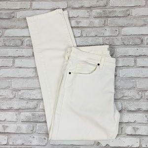 Rich & Skinny Straight Leg White Mid Rise Jeans 30